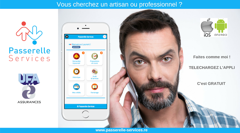 PASSERELLE SERVICES : 1ère Application de Mise en Relation 100% Péï
