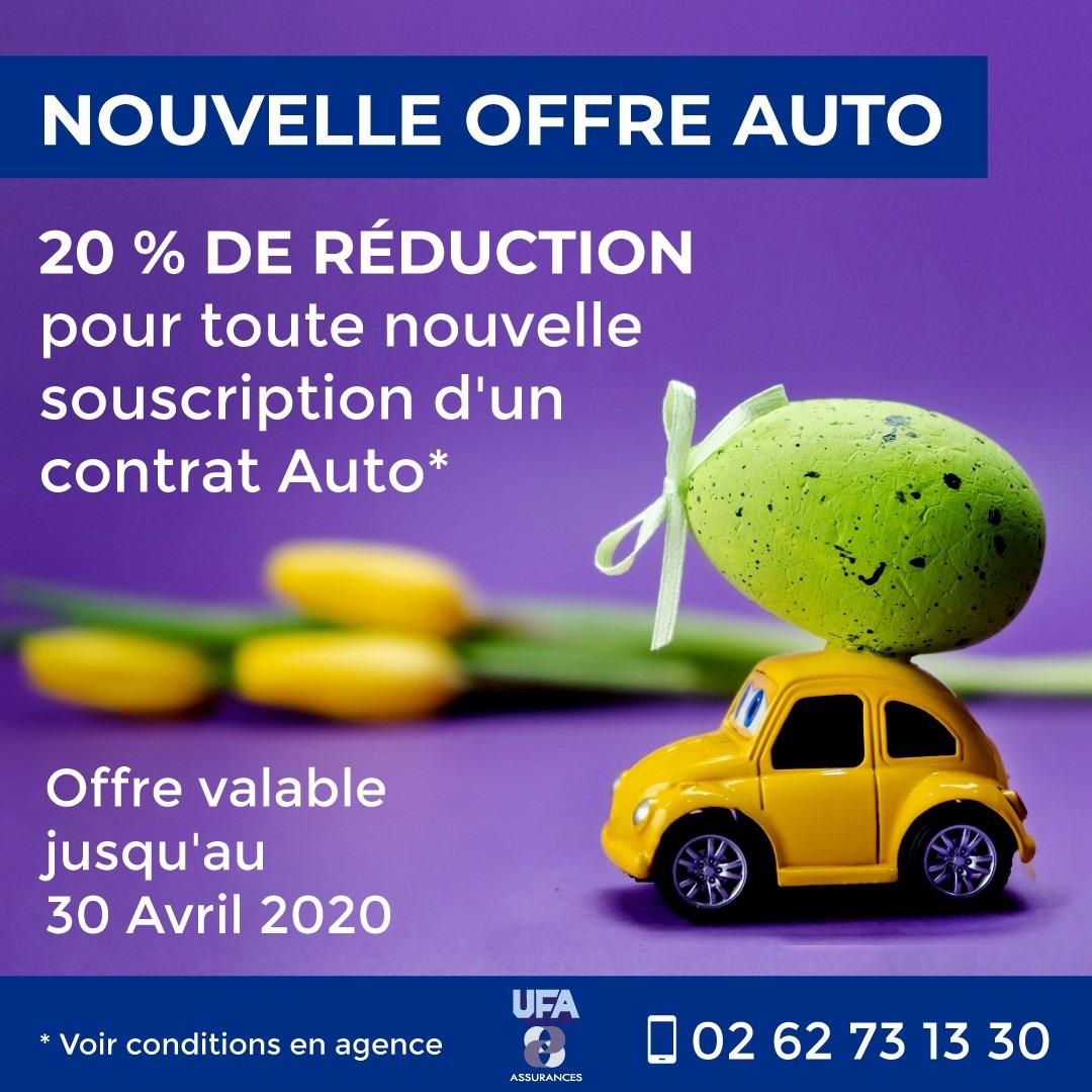 20% de réduction pour toute nouvelle souscription d'un contrat Auto